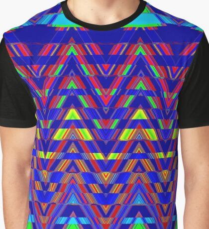 Sliced Triangles Graphic T-Shirt