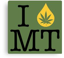 I Dab MT (Montana) Canvas Print