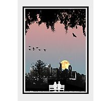 Dornoch Terrace Moonrise Photographic Print