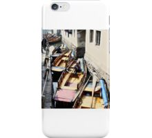 Row of boats iPhone Case/Skin