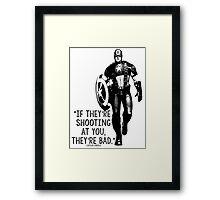 Captain America Marvel Avengers Typography Framed Print