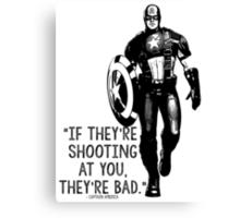 Captain America Marvel Avengers Typography Canvas Print