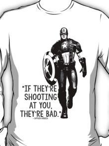 Captain America Marvel Avengers Typography T-Shirt