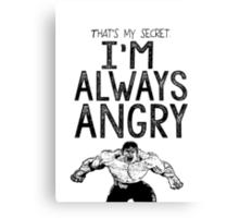 Incredible Hulk Bruce Banner Typography Marvel Comics Canvas Print