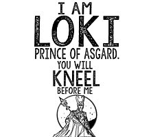 Loki Thor Marvel Comics Typography Poster Photographic Print