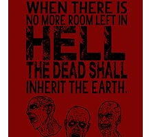 Dawn of the Dead Zombies Typography by geekchicprints