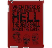 Dawn of the Dead Zombies Typography iPad Case/Skin