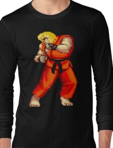 Street Fighter 2 Ken Long Sleeve T-Shirt