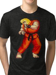 Street Fighter 2 Ken Tri-blend T-Shirt