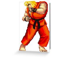 Street Fighter 2 Ken Greeting Card