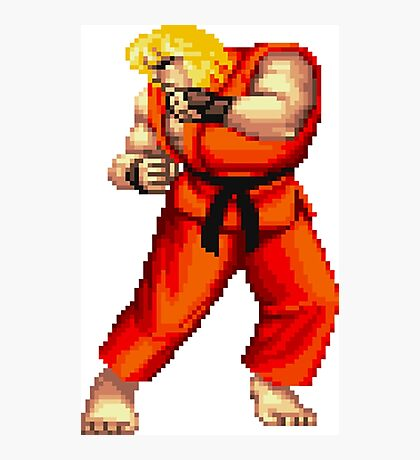 Street Fighter 2 Ken Photographic Print