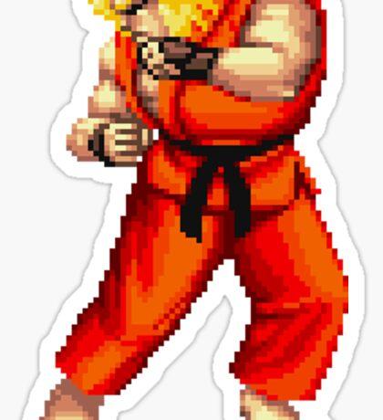 Street Fighter 2 Ken Sticker