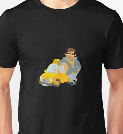 Funny Taxi Driver, yellow cab Unisex T-Shirt