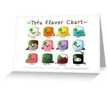 Tofu Flavor Chart Greeting Card