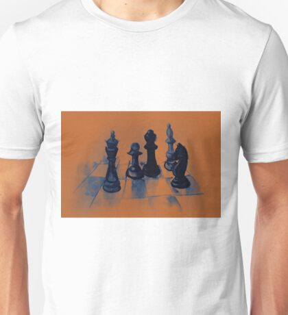Chess pieces, colorful watercolor painting Unisex T-Shirt