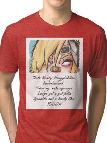 she got them badonkadonks Tri-blend T-Shirt