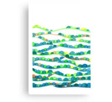 Summer Valleys Abstract Watercolor Canvas Print