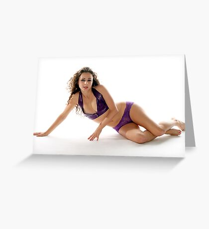 Sexy Brunette Woman Greeting Card