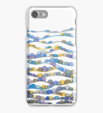 Winter Valleys Abstract Landscape Watercolor iPhone Case/Skin