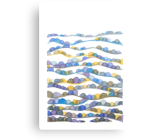 Winter Valleys Abstract Landscape Watercolor Canvas Print