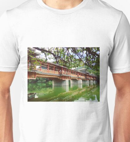 Historic Bridge in a National Garden Park of Southern China Unisex T-Shirt