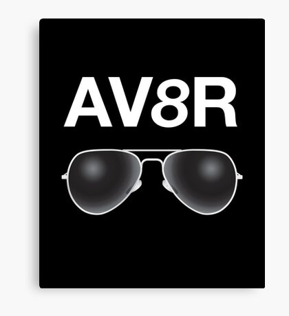 AV8R with a pair of Aviator Sunglasses. Canvas Print