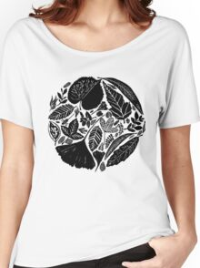 Nature fantasy world, Linocut art Women's Relaxed Fit T-Shirt