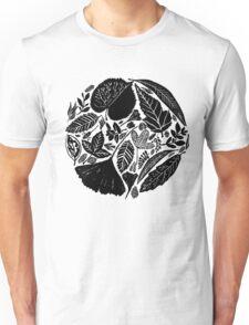 Nature fantasy world, Linocut art Unisex T-Shirt