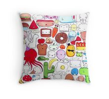 Floating in my Brain Throw Pillow