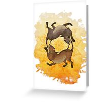 Sun Spiral Greeting Card