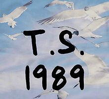 Taylor Swift - T.S. 1989 seagull text by Jean Marie Fuentes
