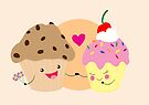 Muffin loves Cupcake by LillyKitten