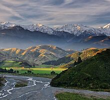 Mount Manakau and the Kahutara River, Kaikoura by Images Abound | Neil Protheroe