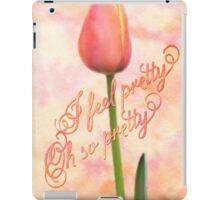 I Feel Pretty Oh So Pretty Orange Tulip Watercolor Background iPad Case/Skin