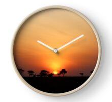 Serengeti Sunrise Clock