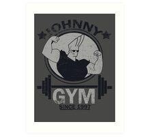 Johnny Gym Art Print