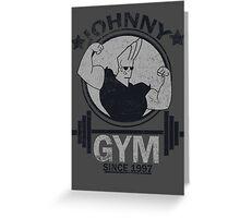 Johnny Gym Greeting Card