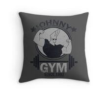 Johnny Gym Throw Pillow
