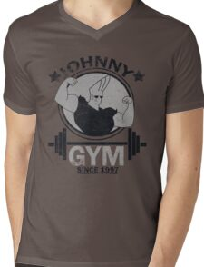 Johnny Gym Mens V-Neck T-Shirt