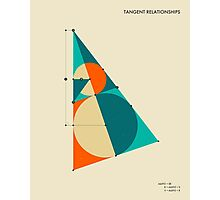 TANGENT RELEATIONSHIPS Photographic Print
