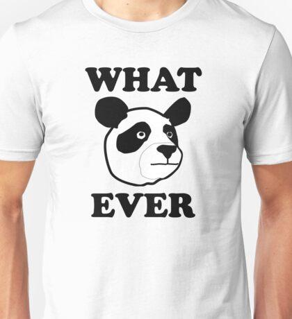 Whatever Funny Panda Unisex T-Shirt