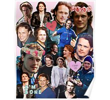 Sam Heughan Collage Poster