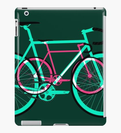 Fixed Gear Road Bikes – Green and Pink iPad Case/Skin