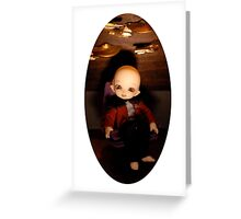 Cute Captain (Oval Version) Greeting Card