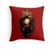 Cute Captain (Oval Version) Throw Pillow
