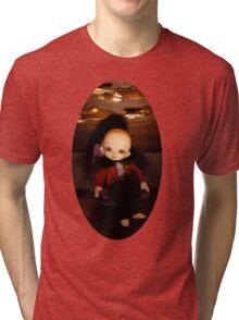 Cute Captain (Oval Version) Tri-blend T-Shirt