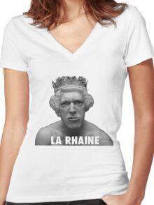 LA HAINE  Women's Fitted V-Neck T-Shirt