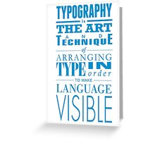 Typography concept Greeting Card