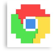 Pixel Chrome Icon Canvas Print