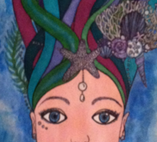 Daughter of the deep, mermaid Sticker